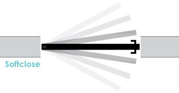 De taatsdeur heeft een soft-close functie.