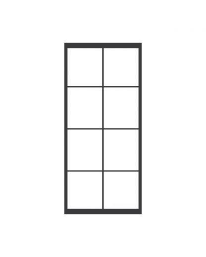 Stalen taatsdeur 4 blokken